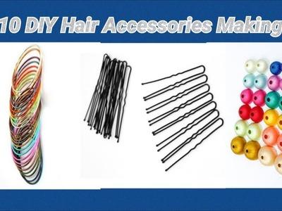 10 DIY hair accessories making at home