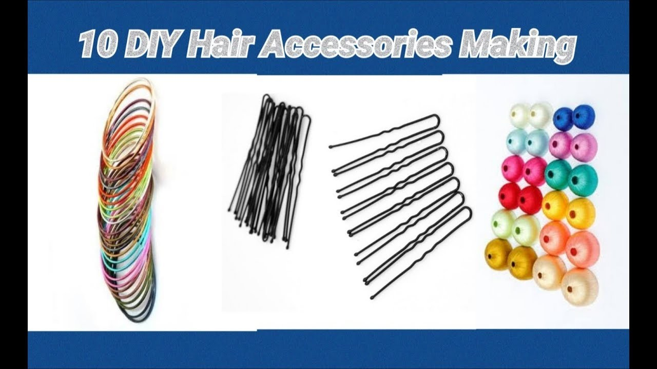 10 DIY hair accessories making at home