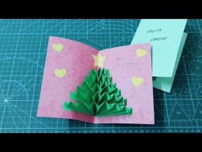 3D Christmas Pop Up Card | How to make a 3D Pop Up Christmas Greeting Card