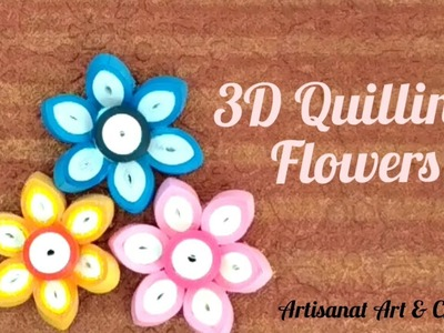 3D Quilling Flowers | Quilled Flowers | How to make Quilling 3D Flower
