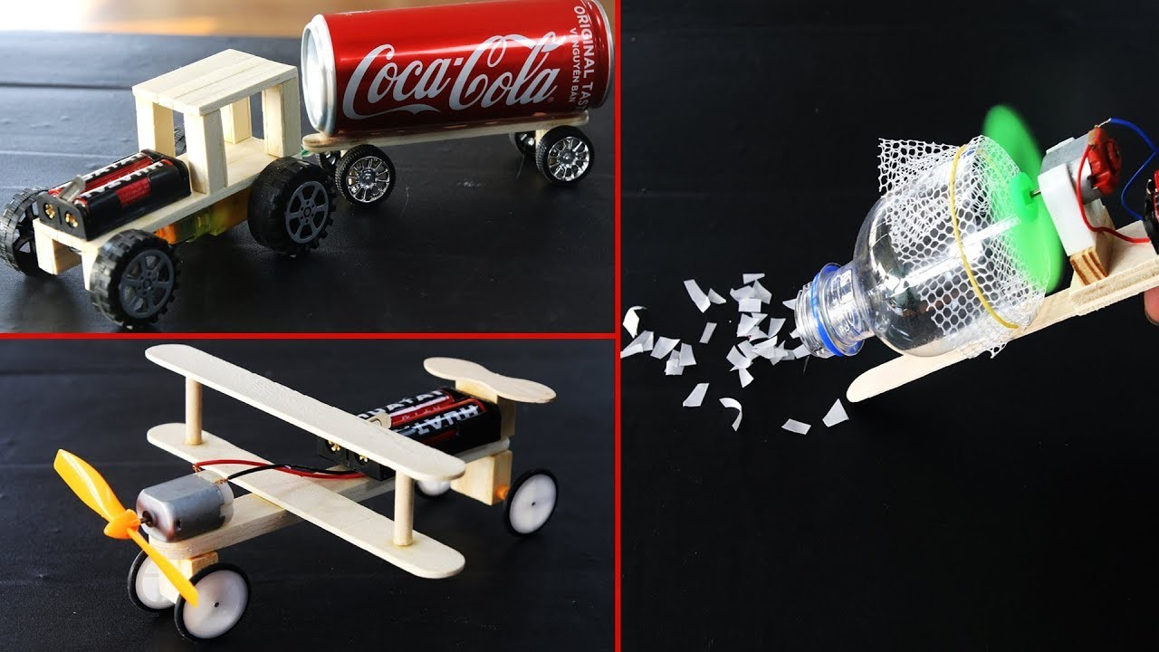 5 Amazing Easy DIY TOYs with Morto DC and Popsicle sticks - very easy