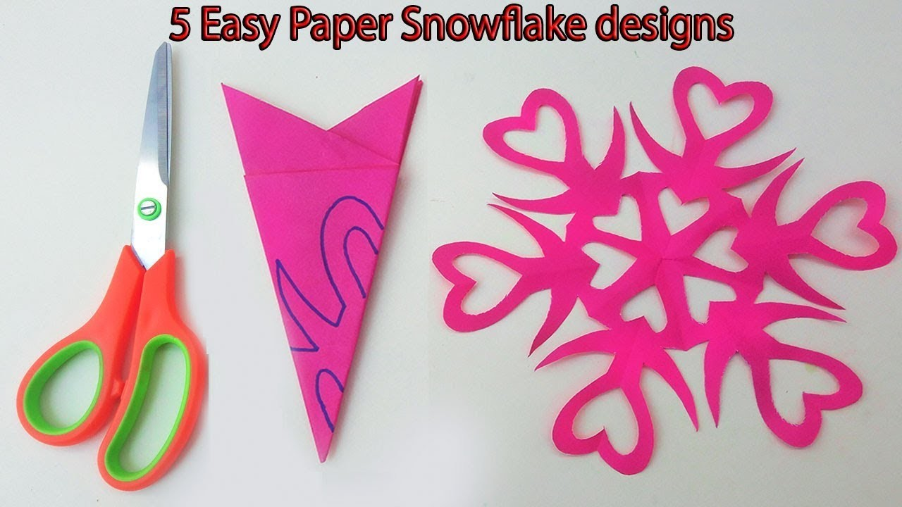 5 Awesome Paper Snowflake Pattern Simple & easy paper cutting snowflake designs