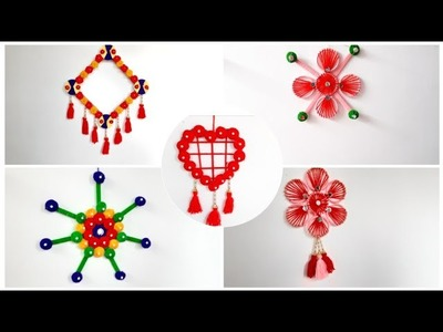 5 DIY Room decor idea from waste material.Best out of waste wool craft.DIY projects (149)