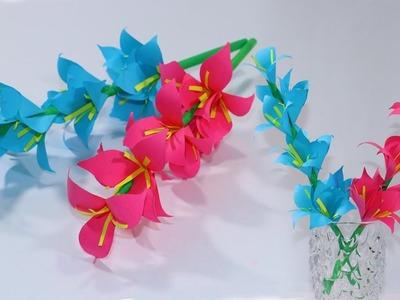 Beautiful Paper Stick Flower - DIY Latest HandCraft Ideas for Home - Paper Flower Design Ideas 2019