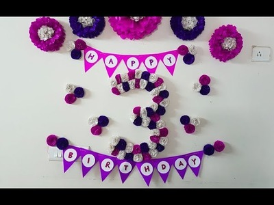 DIY 3D Floral Number for Birthday.Anniversary - Birthday Decoration with Tissue Paper Flowers