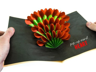 DIY 3D Heart Pop Up Card   Paper Crafts