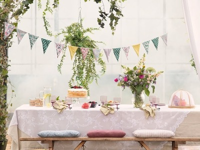 """DIY : A string of home-made bunting for festive occasions and everyday """"hygge"""" by Søstrene Grene"""