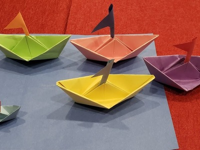 DIY Boat with Flag | Paper Crafts for kids. Easy to make