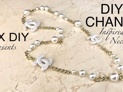 DIY CHANEL Necklace | Designer Inspired Jewelry | Pearl Necklace |