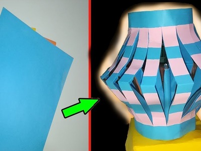 DIY colour paper lamp.lantern (Night Lamp) how to make a lamp light out of colour paper