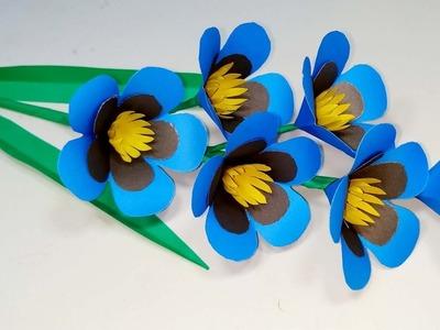 DIY: Easy Very Beautiful Paper Stick Flower!! Paper Flower Idea! Abigail Paper Crafts