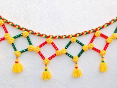 DIY. Easy Woolen Door Hanging. Wool Door Toran