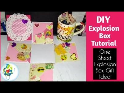 DIY Explosion Box ( last minute Explosion Box+ Coffee mug gift idea)  How to make Explosion Box