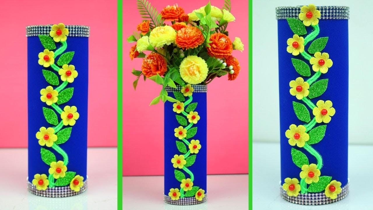 DIY.Flower Pot Best Out of Waste | How to Make Flower Vase from Waste Material | DIY Room Decor