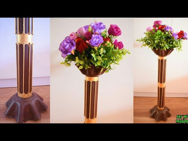 DIY Flower Vase Out of Waste Newspaper and Pipe | Flower pot | Best Out Of Waste Idea | artmypassion