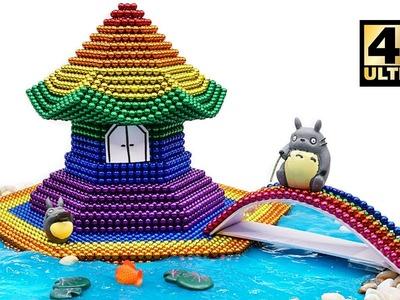DIY - How To Make Beautiful Rainbow Pagoda with Magnetic Balls, Slime (ASMR) | Magnet World 4K