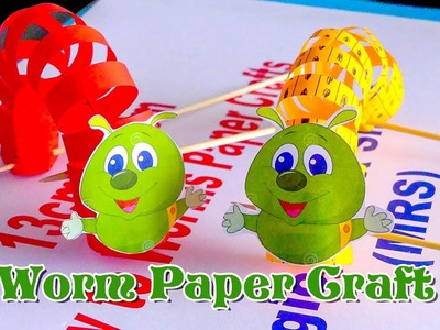 DIY KIDS   Worms Paper Crafts Easy Trick Life Hack BY KH KIDS