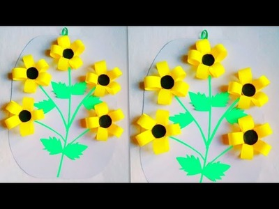 How to make origami sunflower – for beginners | Crafts for kids | 300x400
