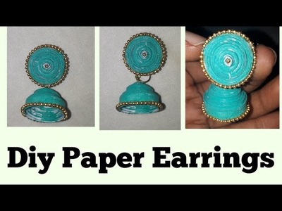 DIY || Paper Earrings making at home ||