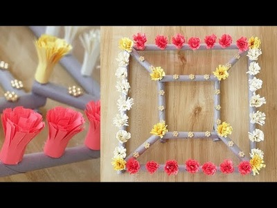 DIY Paper Flower Wall Hanging. Beautiful wall hanging.With New Ideas