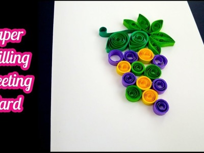 DIY Paper Quilling Grapes Card | How to make Paper Quilling Grapes Frame 98