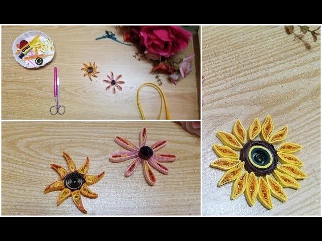 DIY paper quilling sunflower creation idea????????