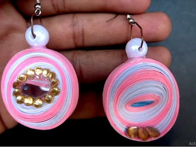 DIY Quilling Paper Earrings For Girls | Make easy Quilling Earrings | Beautiful Paper Crafts Idea |