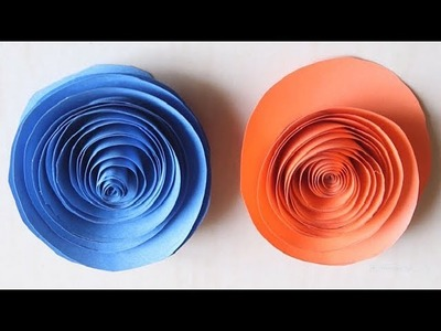 DIY - Rolled Paper roses   Quilling paper flowers wall decoration    birthday gift and decor ideas