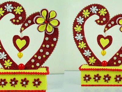 DIY Showpiece Making at Home | Handmade Heart Showpiece | Best Out of Waste Craft Idea