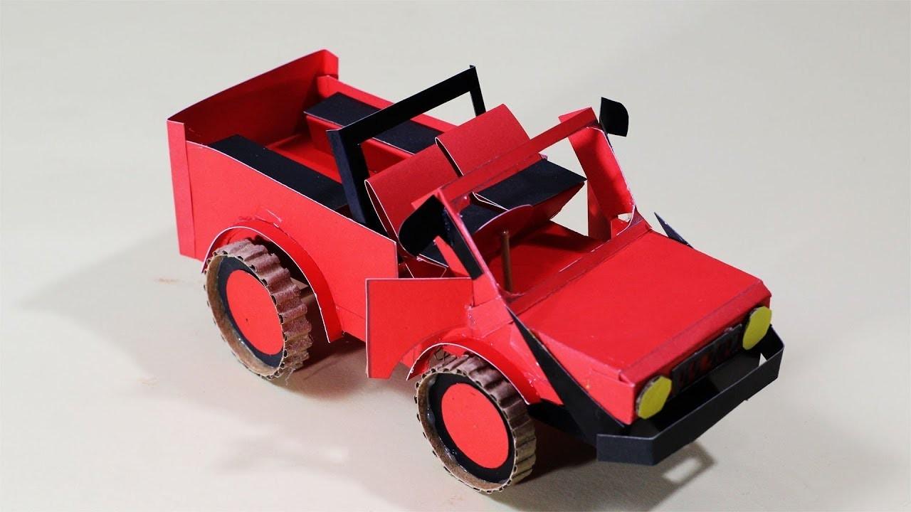 DIY Toy Paper Car, How To Make A Paper Super Car Tutorials