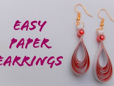 Easy And Simple Paper Earrings   Quilling Paper Earrings   The Best Crafts
