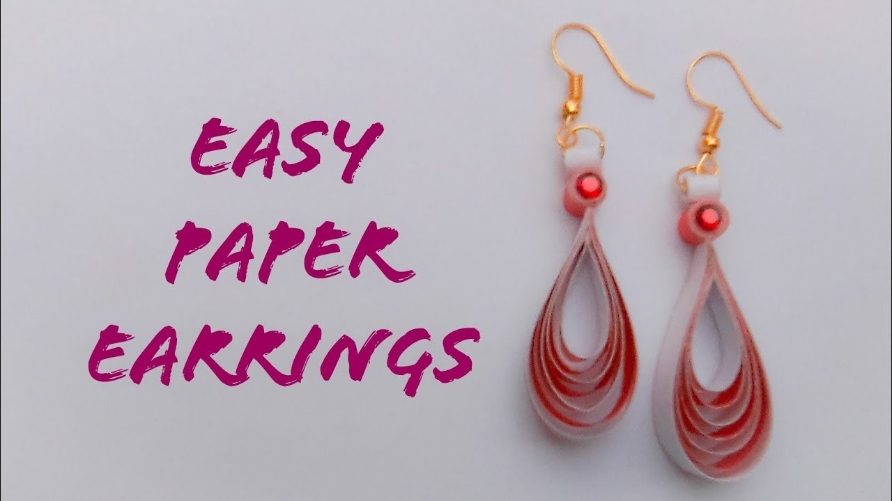 Easy And Simple Paper Earrings | Quilling Paper Earrings | The Best Crafts