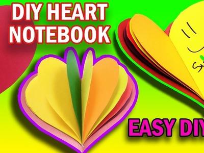 EASY DIY:  MINI NOTEBOOK RAINBOW HEART - Yakomoga