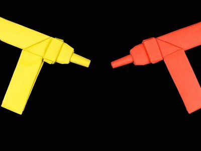 Easy #Origami PaperGun Uzi - How to Make Paper gun Step by Step