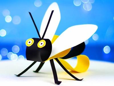 Easy paper bee - tutorial