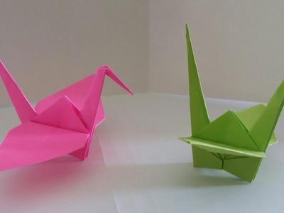 ☆Easy Paper Bird Crane Origami Idea| step-by-step tutorial of bird origami|DIY Origami Craft Ideas