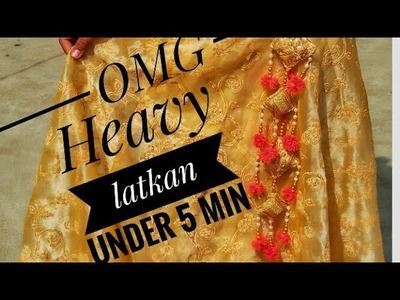 Handmade heavy latkan step by step in hindi | diy latkan | bekar saman se latkan banane ka tarika |