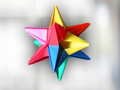Thirty Days of Origami – Day #19: Origami Omega Star – Compass & Quill | 300x400