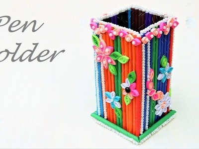 How to make a paper pencil holder step by step   Easy Way To Make Pen Holder