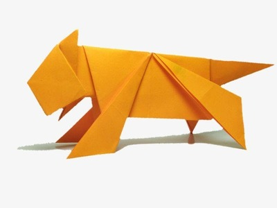 How To Make A  Paper Tiger - ORIGAMI PAPER TIGER