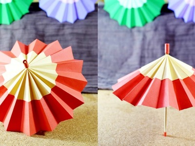 How to Make a Paper Umbrella That Opens and Closes - paper crafts