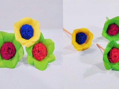 How to Make Beautiful Flower with Paper    Flower Making   DIY