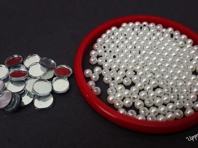 How To Make Designer Earrings At Home | DIY | Pearl Earrings | Jewelry Making | uppunutihome