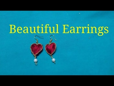 How to make designer Earrings at Home.DIY.Pearl Earrings.Jewellery making