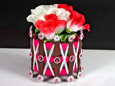 How to Make Flower Vase in Simple Way