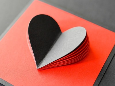 How to make : Greeting Card with Heart | Kartka Okolicznościowa z Sercem - Mishellka #343 DIY