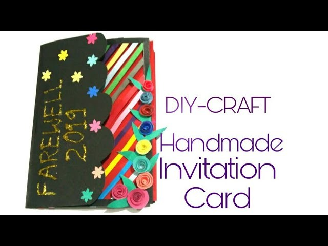 "How to make Invitation card for farewell ""Handmade farewell invitation card""___[DIY-paper craft] #8"