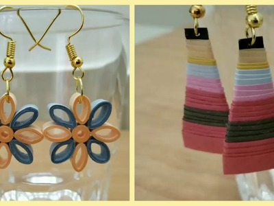 How to Make Light-weight Quilling Ear-Rings at Home? DIY 2019 @Simplified Crafts and Arts