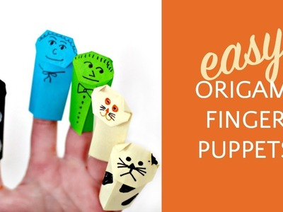 How to Make Origami Finger Puppets