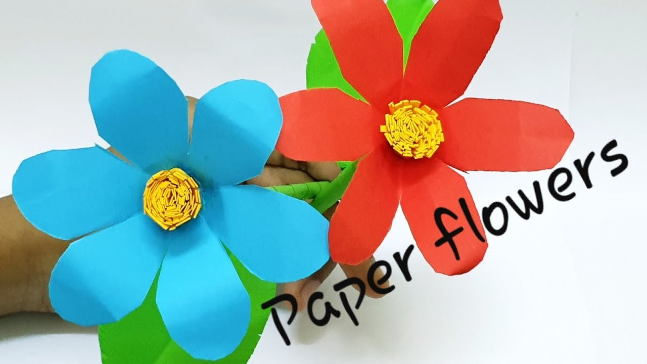 Colors Paper: Easy Making Paper Flower Stick / DIY Paper Stick ... | 720x1280